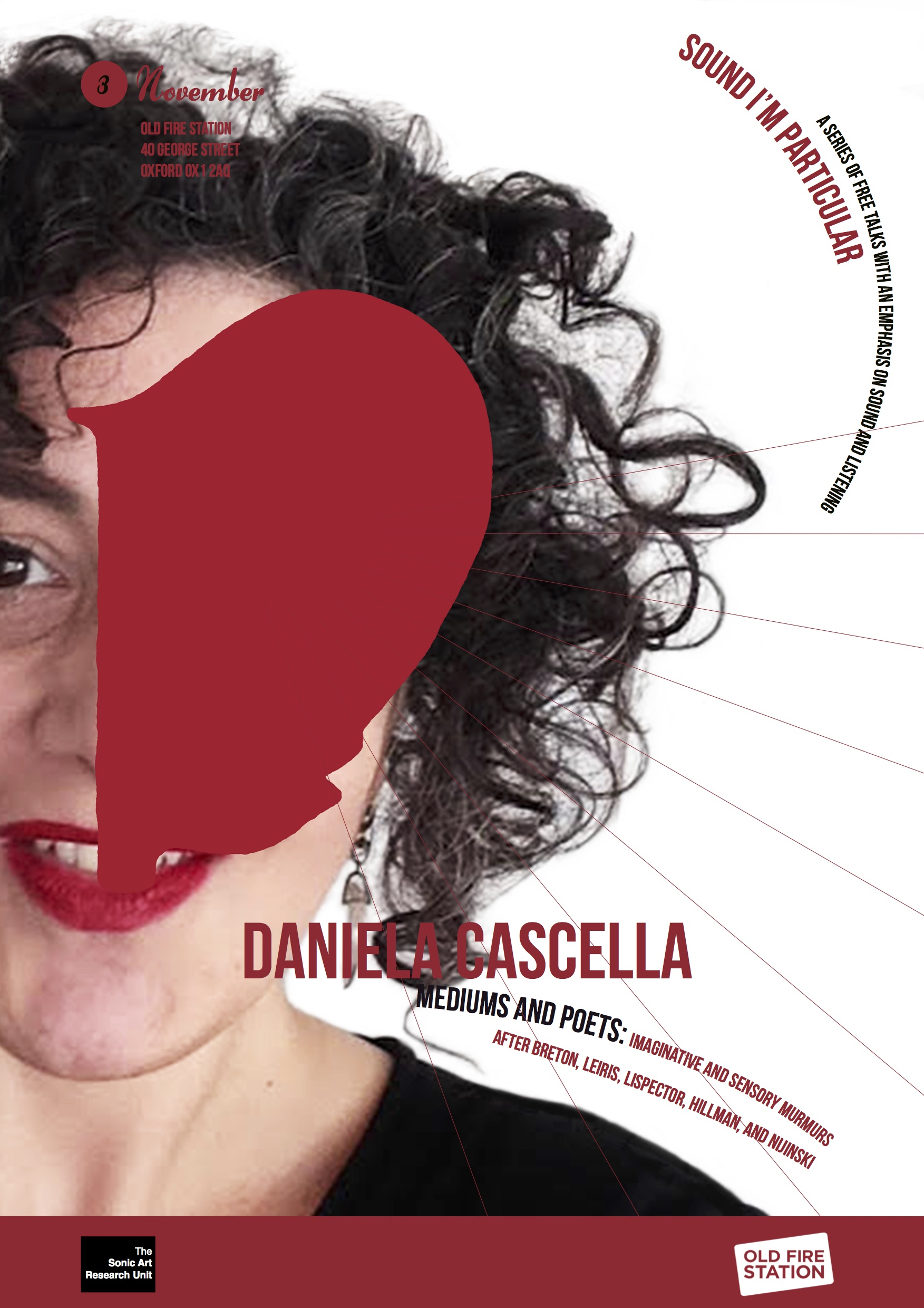 Sound I'm Particular 2. Daniela Cascella, Imaginative and Sensory Murmurs. November 3rd.