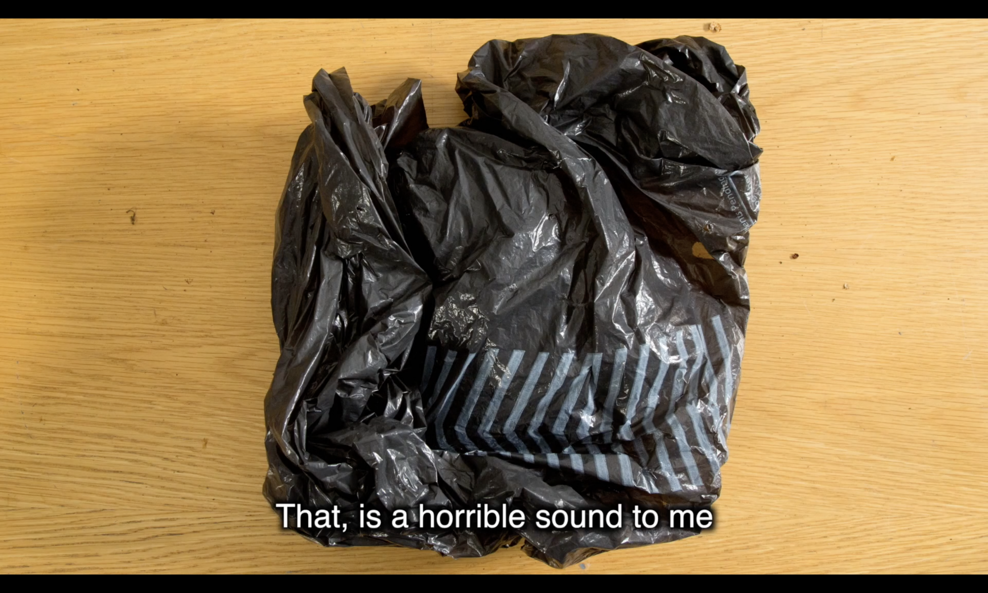 Image of plastic bag with caption
